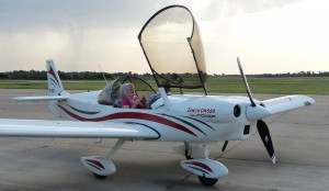 Cheryl returns from her first small airplane flight